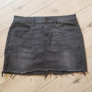 NWOT Express Sz 10 Stretch Black/Gray Jean Skirt